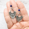 norosesjewelry.com - Los Angeles - She Shields Lapis Earrings
