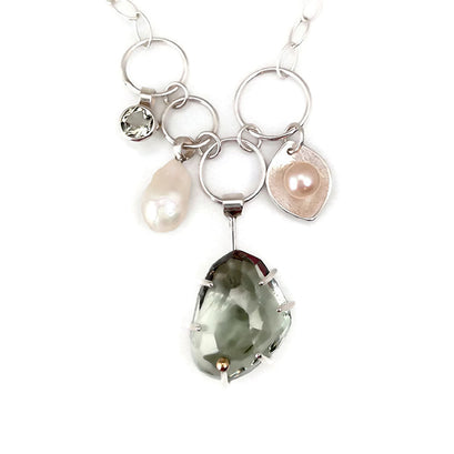 norosesjewelry.com - Los Angeles - One of a Kind Green Amethyst Necklace