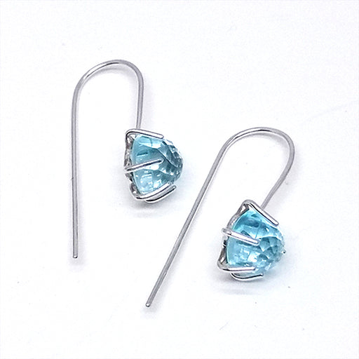 norosesjewelry.com - Los Angeles - Sky Blue Topaz (Rose Cut) Dangle Earrings