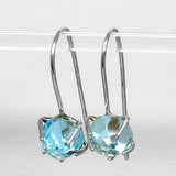 Sky Blue Topaz (Rose Cut) Dangle Earrings