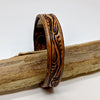 norosesjewelry.com - Los Angeles - Thin Leather Cuff with Vine Design