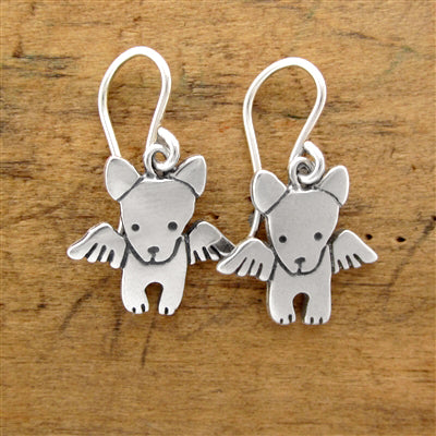 norosesjewelry.com - Los Angeles - Day 1: Sterling Silver Angel Dog Earrings