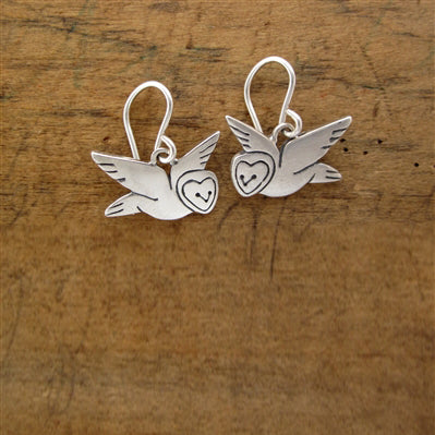 norosesjewelry.com - Los Angeles - Sterling Silver Little Barn Owl Earrings