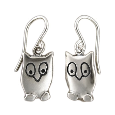 norosesjewelry.com - Los Angeles - Sterling Silver Night Owl Earrings