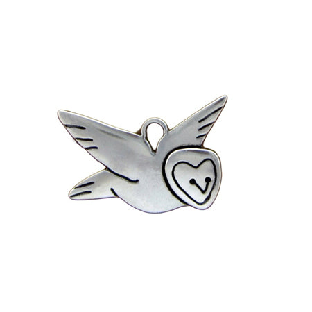 norosesjewelry.com - Los Angeles - Sterling Silver Little Barn Owl Charm/Pendant