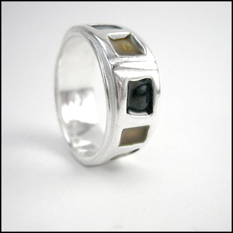 "Wedding Band ""Chicago"" , rings - Mark Poulin, No Roses Jewelry Artisan Jewelry Los Angeles - 1"