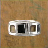 "Wedding Band ""Chicago"" , rings - Mark Poulin, No Roses Jewelry Artisan Jewelry Los Angeles - 4"