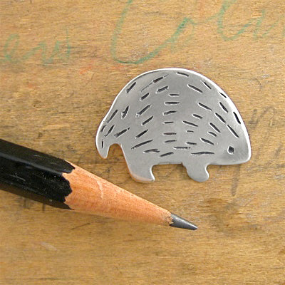 norosesjewelry.com - Los Angeles - Sterling Silver Hedgehog Charm/Pendant