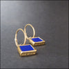 norosesjewelry.com - Los Angeles - Tiny Gold Green Blue Earrings