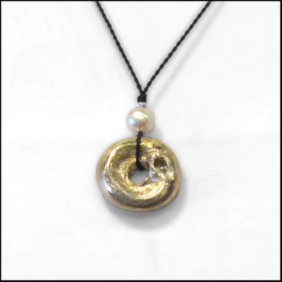 bronze drop mystery pendant , Necklace - No Roses Ore, No Roses Jewelry Artisan Jewelry Los Angeles - 1