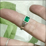 Emerald-cut Emerald Ring for Janet , ring - No Roses Custom, No Roses Jewelry Artisan Jewelry Los Angeles - 2