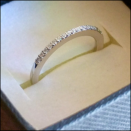 Diamond And White Gold Wedding Band For Brittany