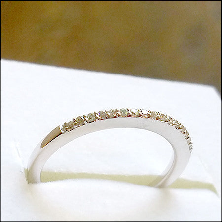 Diamond and White Gold Wedding Band for Brittany ,  - No Roses Jewelry Sherman Oaks Ventura Boulevard, No Roses Jewelry Artisan Jewelry Los Angeles - 1
