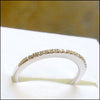 norosesjewelry.com - Los Angeles - Diamond and White Gold Wedding Band for Brittany