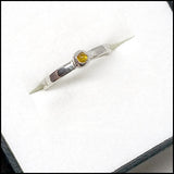 Teeny White Gold Citrine Ring for Mark , rings - No Roses Custom, No Roses Jewelry Artisan Jewelry Los Angeles - 2