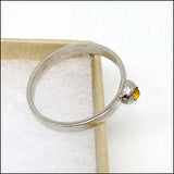 Teeny White Gold Citrine Ring for Mark , rings - No Roses Custom, No Roses Jewelry Artisan Jewelry Los Angeles - 3