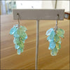 Custom Aquamarine Cluster Earrings for Irene , Earrings - No Roses Custom, No Roses Jewelry Artisan Jewelry Los Angeles - 1