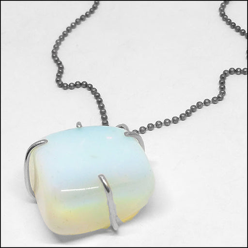 Moonstone Pendant for Ron , Necklace - No Roses Custom, No Roses Jewelry Artisan Jewelry Los Angeles - 1