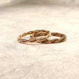 Custom 14k Rose Gold Wedding Bands for Emily and Jeff