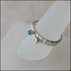 Blue and White CZ Stacking Rings , rings - No Roses Earthen, No Roses Jewelry Artisan Jewelry Los Angeles - 1