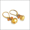 norosesjewelry.com - Los Angeles - Twosies Citrine Birthstone Earrings