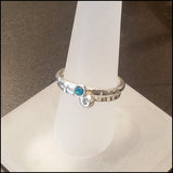Blue and White CZ Stacking Rings , rings - No Roses Earthen, No Roses Jewelry Artisan Jewelry Los Angeles - 3