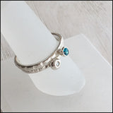 Blue and White CZ Stacking Rings , rings - No Roses Earthen, No Roses Jewelry Artisan Jewelry Los Angeles - 5
