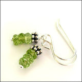 Triple Peridot Drop Earrings
