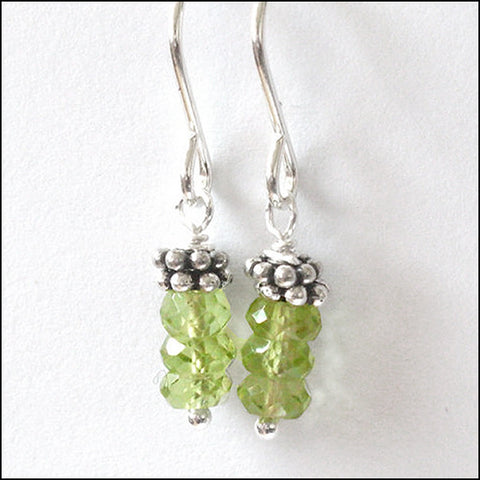 norosesjewelry.com - Los Angeles - Triple Peridot Drop Earrings