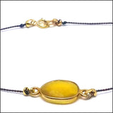 yellow sapphire and silk bracelet artisan jewelry ventura boulevard sherman oaks
