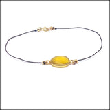 yellow sapphire and silk bracelet artisan jewelry ventura boulevard sherman oaks view #2