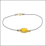 yellow sapphire and silk bracelet artisan jewelry ventura boulevard sherman oaks view #3