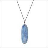 Oval Kyanite Blue Gemstone Pendant