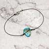 norosesjewelry.com - Los Angeles - Simple Silk Turquoise Bracelet