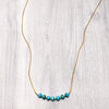 norosesjewelry.com - Los Angeles - Seven Stone Necklace Turquoise Silver