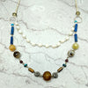 norosesjewelry.com - Los Angeles - Miranda Lapis and Pearl Necklace