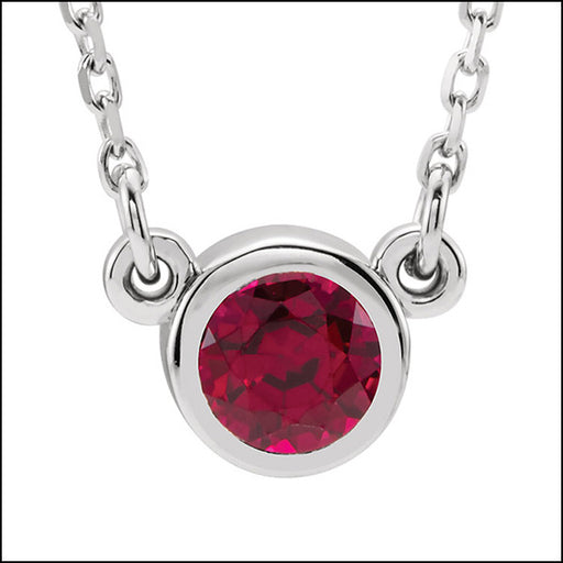 norosesjewelry.com - Los Angeles - Ruby and White Gold Petite Pendant