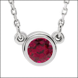 Ruby and White Gold Petite Pendant
