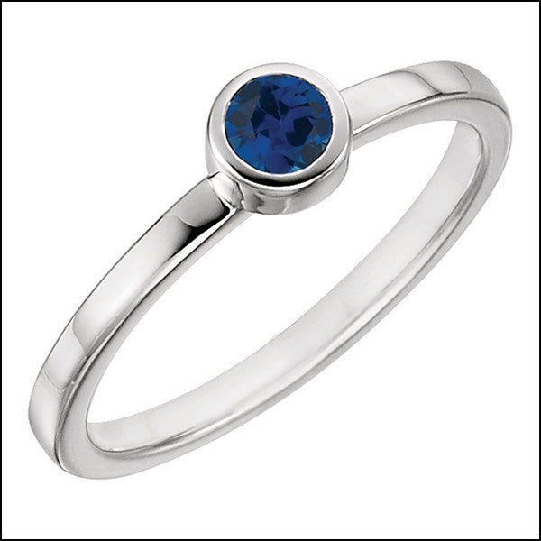 norosesjewelry.com - Los Angeles - Blue Sapphire Birthstone Stacker Ring