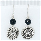 Steampunk Drop Earrings, Black Onyx