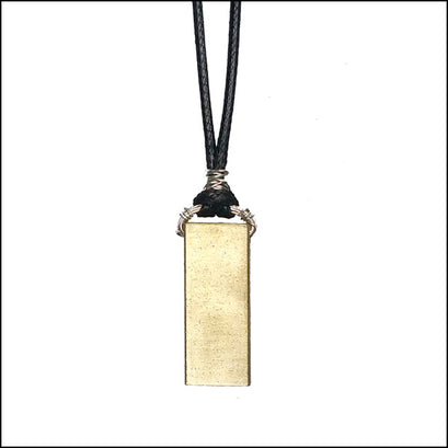 NoRosesJewelry.com brass rectangle pendant