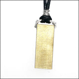 NoRosesJewelry.com brass rectangle alternate view