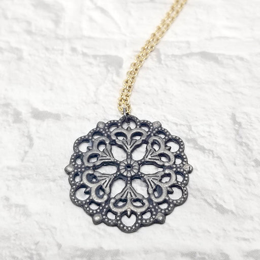 norosesjewelry.com - Los Angeles - Mandala 01 Mixed Metals Pendant