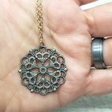 Mandala 01 Mixed Metals Pendant