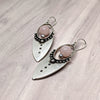 norosesjewelry.com - Los Angeles - Iquitos Silver and Rose Quartz Earrings