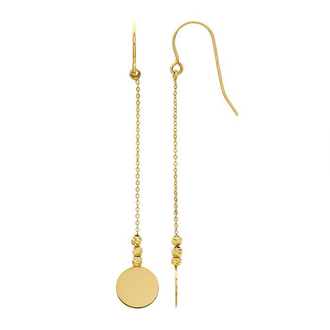 norosesjewelry.com - Los Angeles - 14k Dangle Disc Drop Earrings