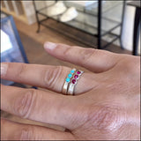 Custom Gemstone Stacker Rings for Debbie , rings - No Roses Custom, No Roses Jewelry Artisan Jewelry Los Angeles - 1