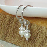 Simple Pearl Drop Earrings , Earrings - No Roses Mad Pearls, No Roses Jewelry Artisan Jewelry Los Angeles - 3