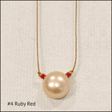 Delicate Pearl Drop Necklace , Necklace - No Roses Mad Pearls, No Roses Jewelry Artisan Jewelry Los Angeles - 3