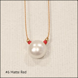 Delicate Pearl Drop Necklace , Necklace - No Roses Mad Pearls, No Roses Jewelry Artisan Jewelry Los Angeles - 2